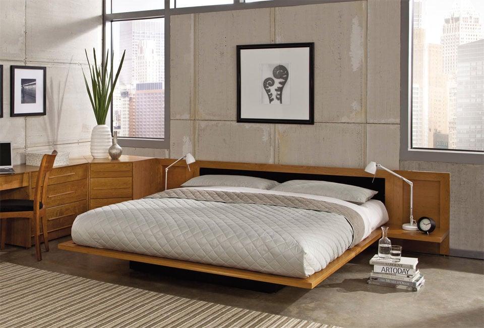 Mikado Japanese Floating Platform Bed