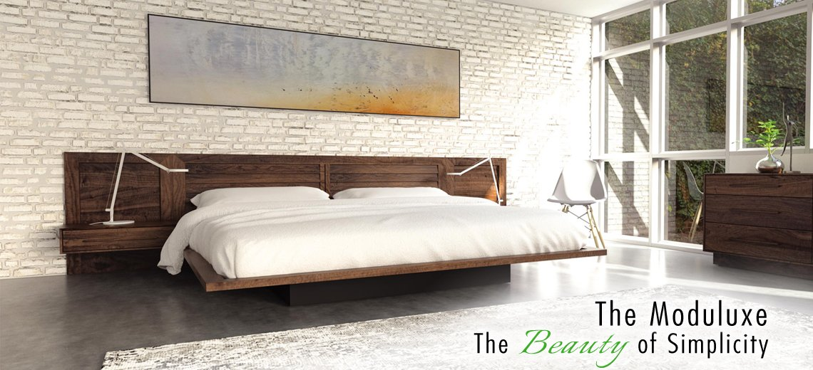 Moduluxe Floating Platform Bed
