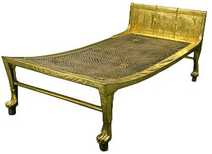 Historical Egyptian Platform Style of Bed Dating Back Over 2500 years