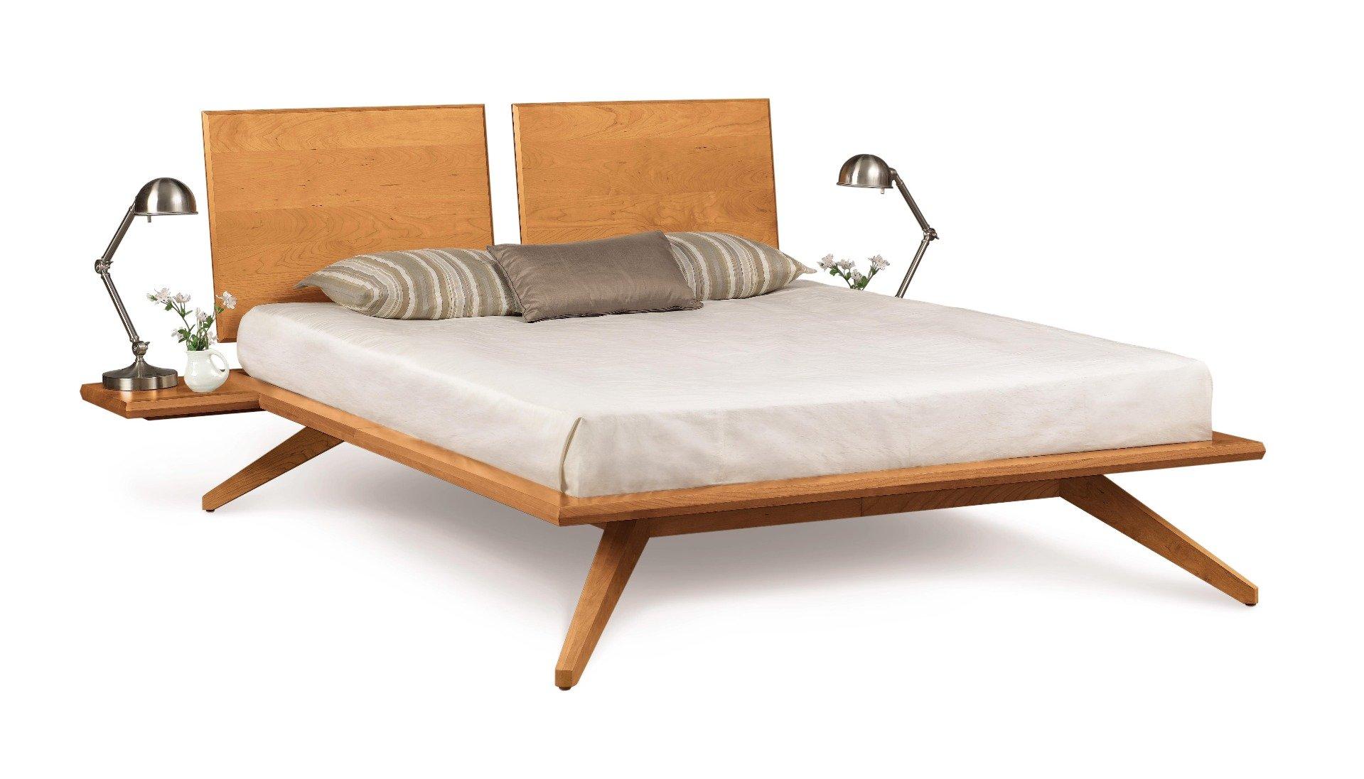 Astrid Platform Bed with Shelf Nightstand